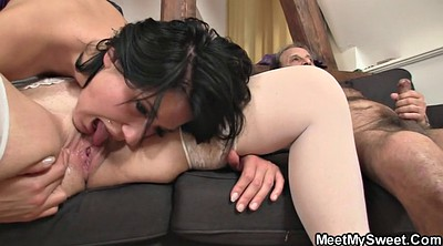 Granny, Young pussy, Old pussy, Old dick, Mom teach