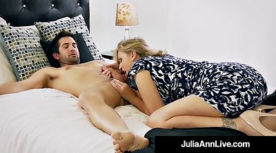 Julia, Anne, Ann, Step son, Mother son, Mother blowjob