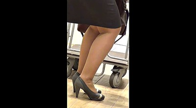Shop, Fetish, Mature feet, Mature pantyhose, Shopping, Sexy lingerie