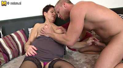 Grandma, Granny and boy, Mature amateur, Mature and young