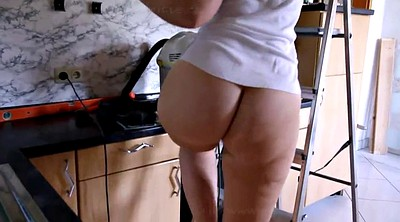 Fat ass, Cleaning, Bottomless, Bbw german