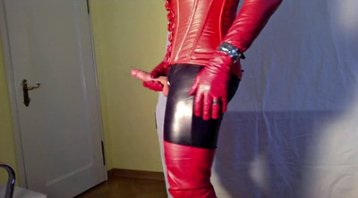 Leather, Crossdresser, Gloves, Glove