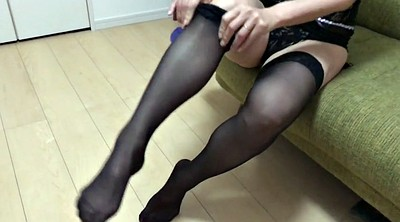 Stockings, Stockings feet, Foot cumshot