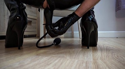 Boots, Latex toys, Latex anal