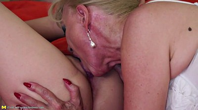 Young girl, Mature lesbian
