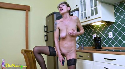 Granny solo, Hairy mature, Grandmas, Alone, Kitchen, Hairy solo