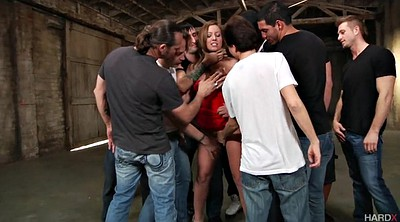 Teen gangbang, Group sex, Maddy, Blowing