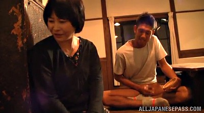 Hand job, Asian mature