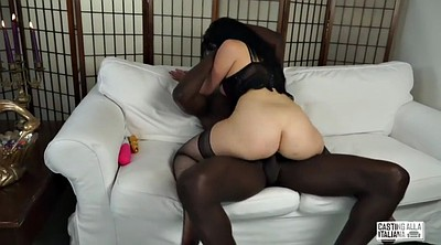 Interracial anal, Black solo