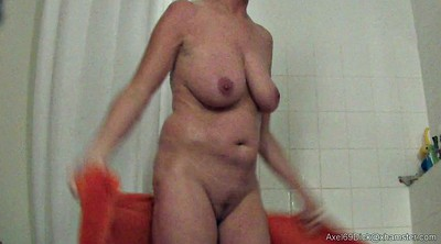 Saggy, Saggy tits, Hidden cam, Hidden shower, Big nipples, Saggy nipples