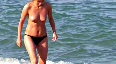 Beach, Saggy, Saggy tits, Hard, Mature beach, Beach mature