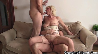 Grannies, Mature threesome