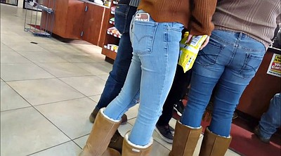 Jeans, Tight teen, In jeans