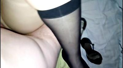 Blacked, Nylon footjob, Nylon foot, High heels, Nylon feet, Nylon feet cum