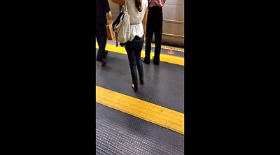 Candid, Footing, Subway, Sole, Fetishism