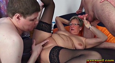 Cuckold, German mature, German granny, Lustful, Granny cuckold