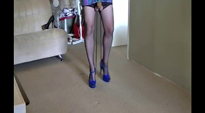 Heels, Nylon fetish, Tied