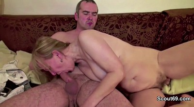 Hairy mature, Seduced, Old mom