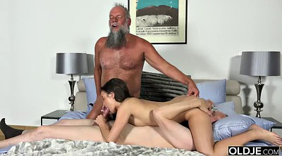 Teens, Old grandpa, Granny group, Old fuck young