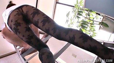 Pantyhose office, Asian office, Pantyhose orgasm