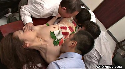 Creampie, Japanese office, Yui, Japanese gangbang, Japanese group, Lick gangbang