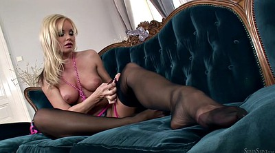 Czech black, Czech, Stockings solo, Panty, Silvia saint