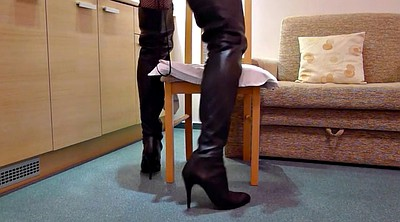 Flashing, Flash, Hotel, Anal boots, Boots anal, Leather anal