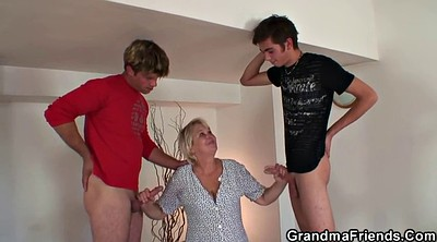 Wife threesome, Young pussy, Old woman, Big woman, Old pussy, Milf threesome