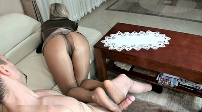 Pantyhose feet, Wife with, Granny pantyhose