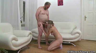 Old man, Double, Old man threesome, Granny hardcore, Granny double penetration, Granny big