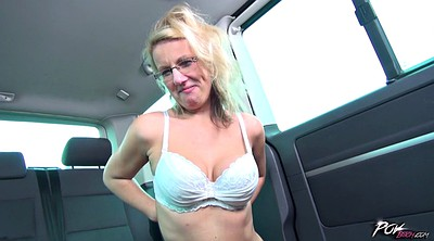 Saggy tits, Mature slut, Car