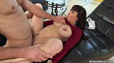 Drink, Latina boobs, Latina doggy fucking brunette