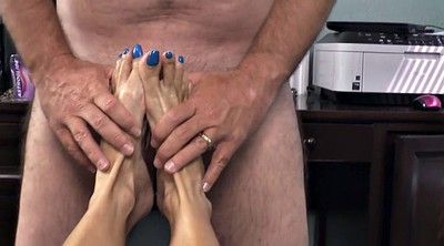 Footjob, Milf feet, Mature foot