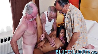 Three, Facials, Old orgy, Latina granny, Granny orgy, Granny latina