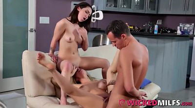 Bad milfs, Teen daughter, Lucky guy, Hot guys fuck