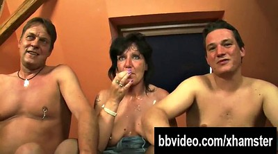 Threesome, German blowjobs