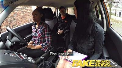 School, School girl, School girls, Fake driving school, Fake driving, Fake tits