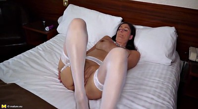 Mother, Stocking mature, Sexy lingerie, Mature stocking, Stockings mature, White stockings