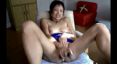 Asian granny, Webcam mature, Mature masturbation