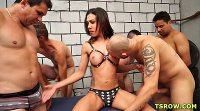 Gangbang anal creampie, Shemale creampie
