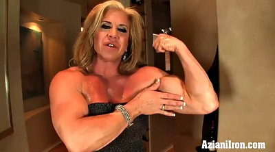 Big clit, Strong, Muscle girl, Mature girl