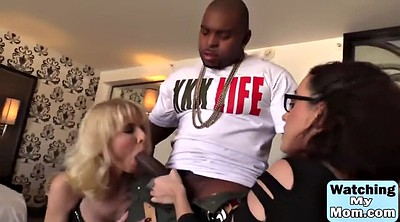 Sharing, Monster, Mom threesome, Mom and daughter, Interracial mom, Ebony mom