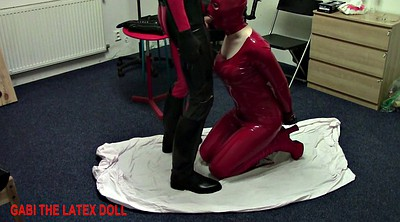 Latex, Doll, Sex doll, Rubber, Spanking sex, Spanked and fucked