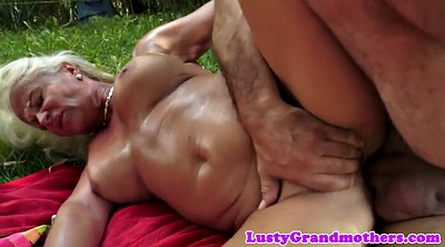 Granny anal, Chubby anal, Outdoor mature