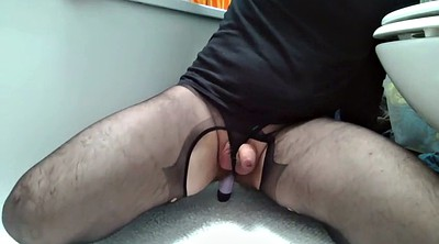 Gay dildo, Panty handjob, Ass toy, Amateur gay