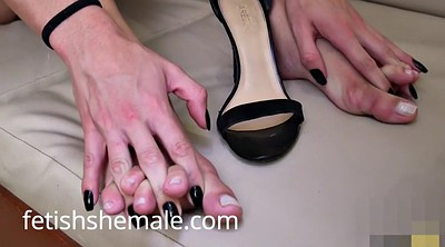 Feet fetish, Show, Shemale foot, Shemale feet