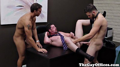 Muscle, Sport, Gay gangbang, Office gangbang, Gay office