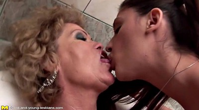Granny, Piss, Old, Young daughter, Mature lesbian, Pissing granny