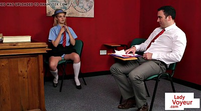 British, Schoolgirl, Femdom instruction