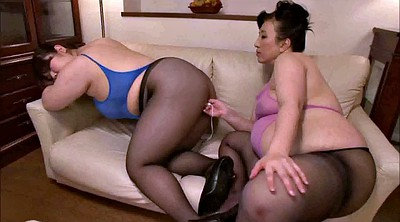 Masturbation together, Asian bbw